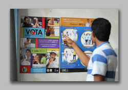 Parliament election posters