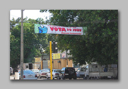 Parliament Election vote banner