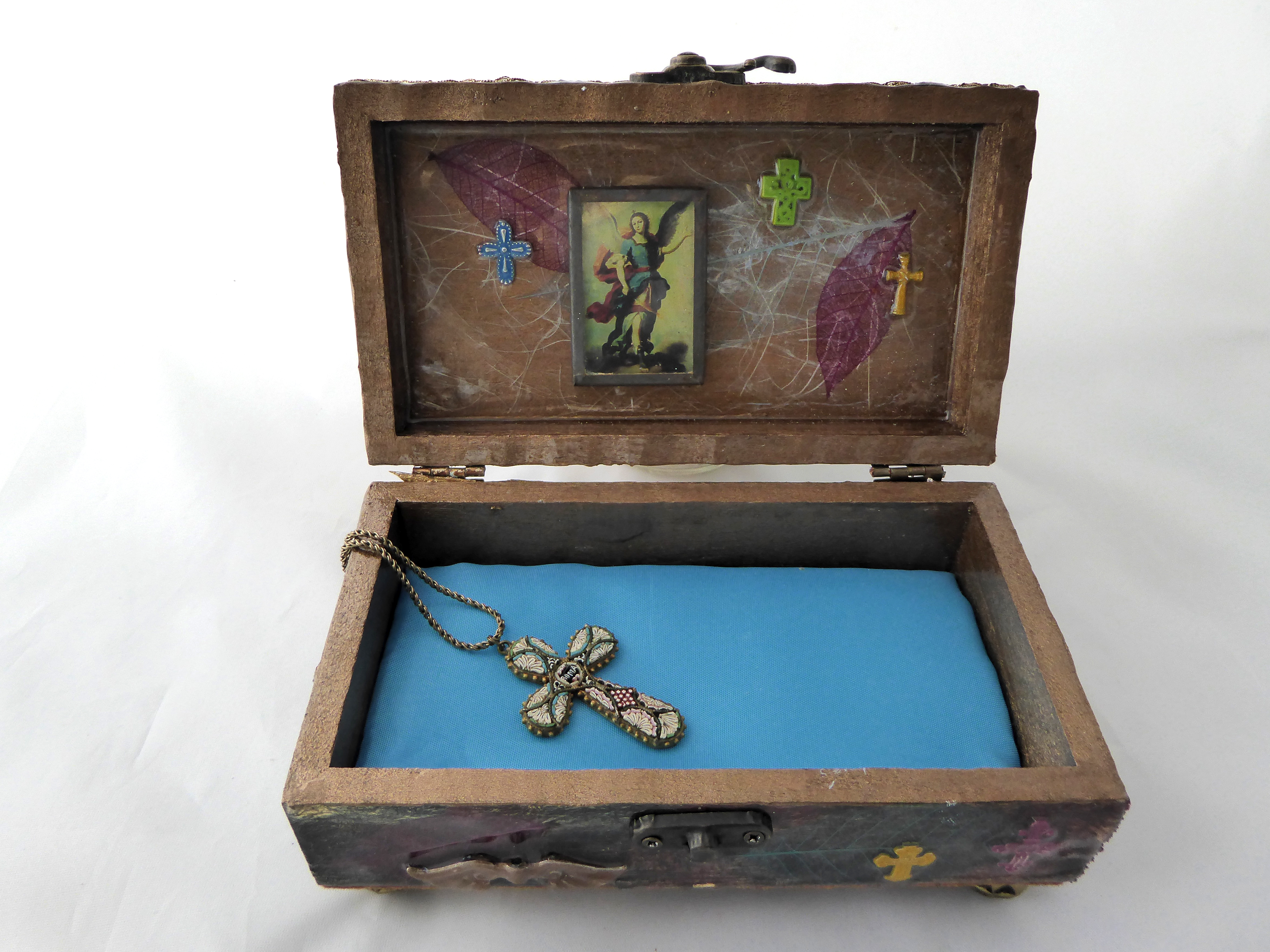 Jewelry box -Cross & Sacred Heart