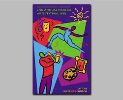 Harlem Arts Festival poster & flyer