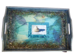beach serving tray-top view