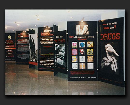 "UNDCP ""A Drug Exhibit Free World"" exhibit"