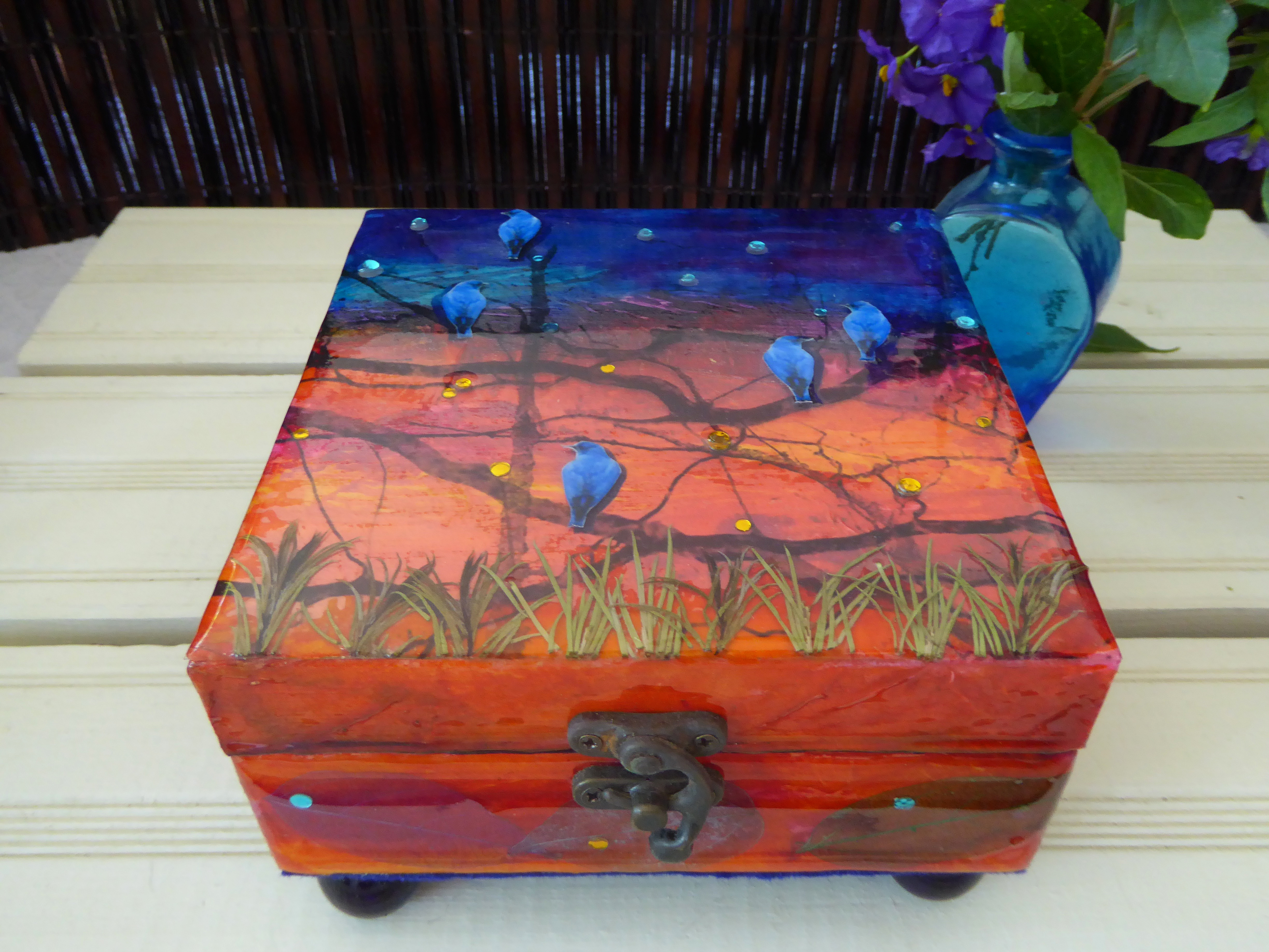 Birds on Branches decorative box