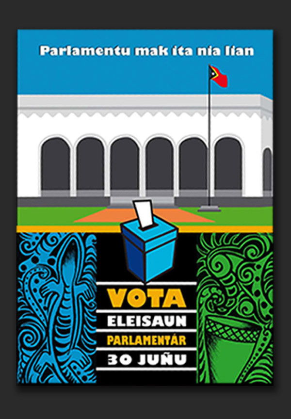 Timor-Leste Presidential & Parliament Elections campaign 2007 - folder, training materials, promotional incentives, newsletter