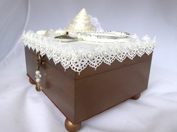 Shell & Dove Jewelry Box – Side View