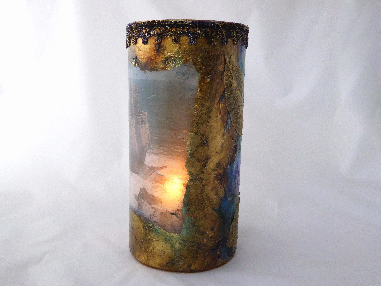 Glass lantern - Seascape