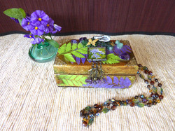 Lily & butterfly Jewelry Box