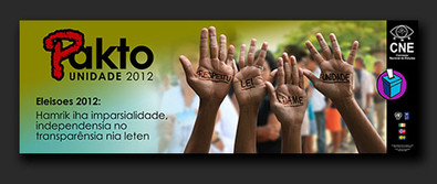 Timor-Leste Electoral Commission Unity Peace Pact 2012 - banners & posters