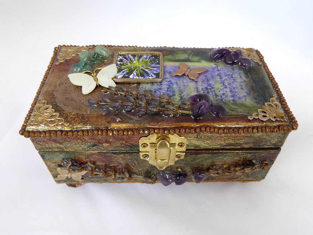 Jewelry Box - Lavender & Butterflies