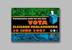 Parliament Election vote sticker