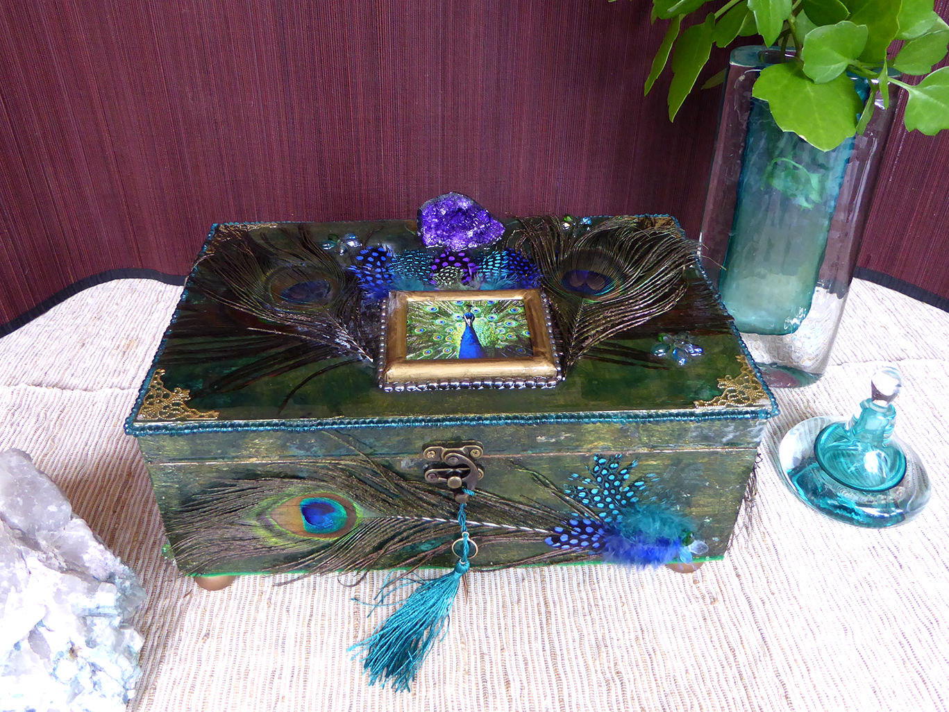 Peacock Jewelry Box – in setting
