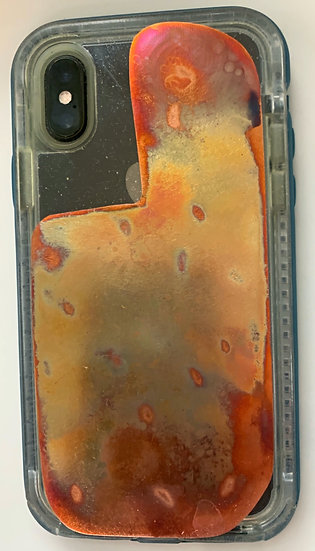 Solid Copper Anti-Viral Phone Back Torched