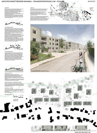Wettbewerb –  Wohnbau Traundorferstraße