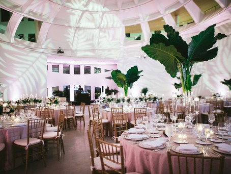 Julie & Ricky's Monochromatic Modern Wedding at Faena Forum