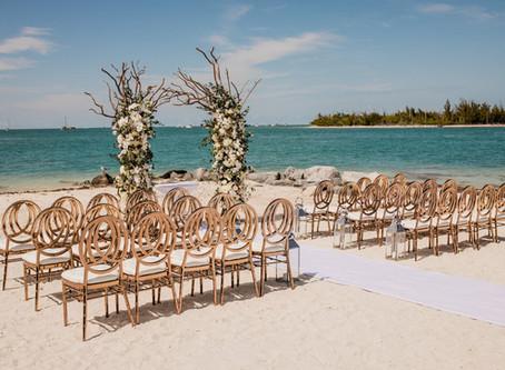 Yizel + Carlos Elegant Beach Wedding