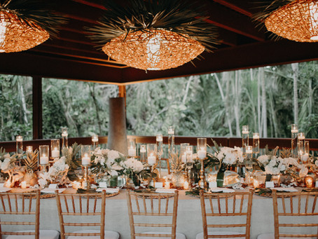 Noah + Michelle's Tropical Garden Wedding