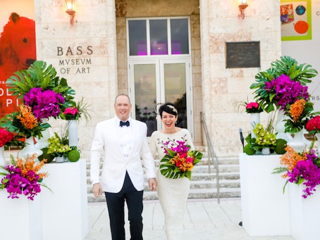 Belkys and Demetri's whimsical wedding at The Bass Museum in Miami Beach