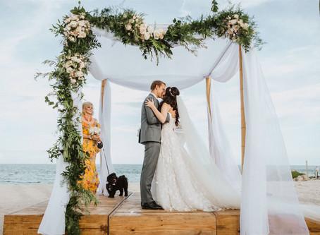Emma + Andrew's Fisher Island Zoom Wedding