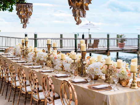 Rose Gold and Pastel Dream Wedding at Little Palm Island