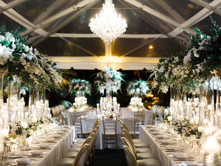 Monica + Patrick's Romantic tented Wedding at Villa Woodbine