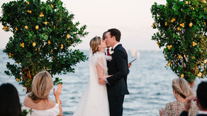 Lemon Trees and Blue Chinoiserie Wedding at Ocean Reef Club in Key Largo