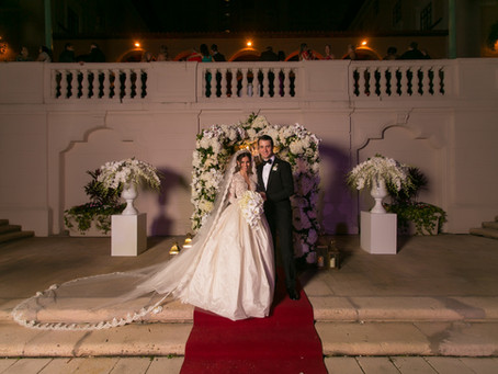 Flavia + Andre's Grand Royal Romance at Biltmore Hotel