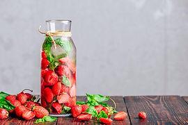 Frutas e água
