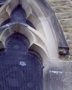 Church window stone replacement piece