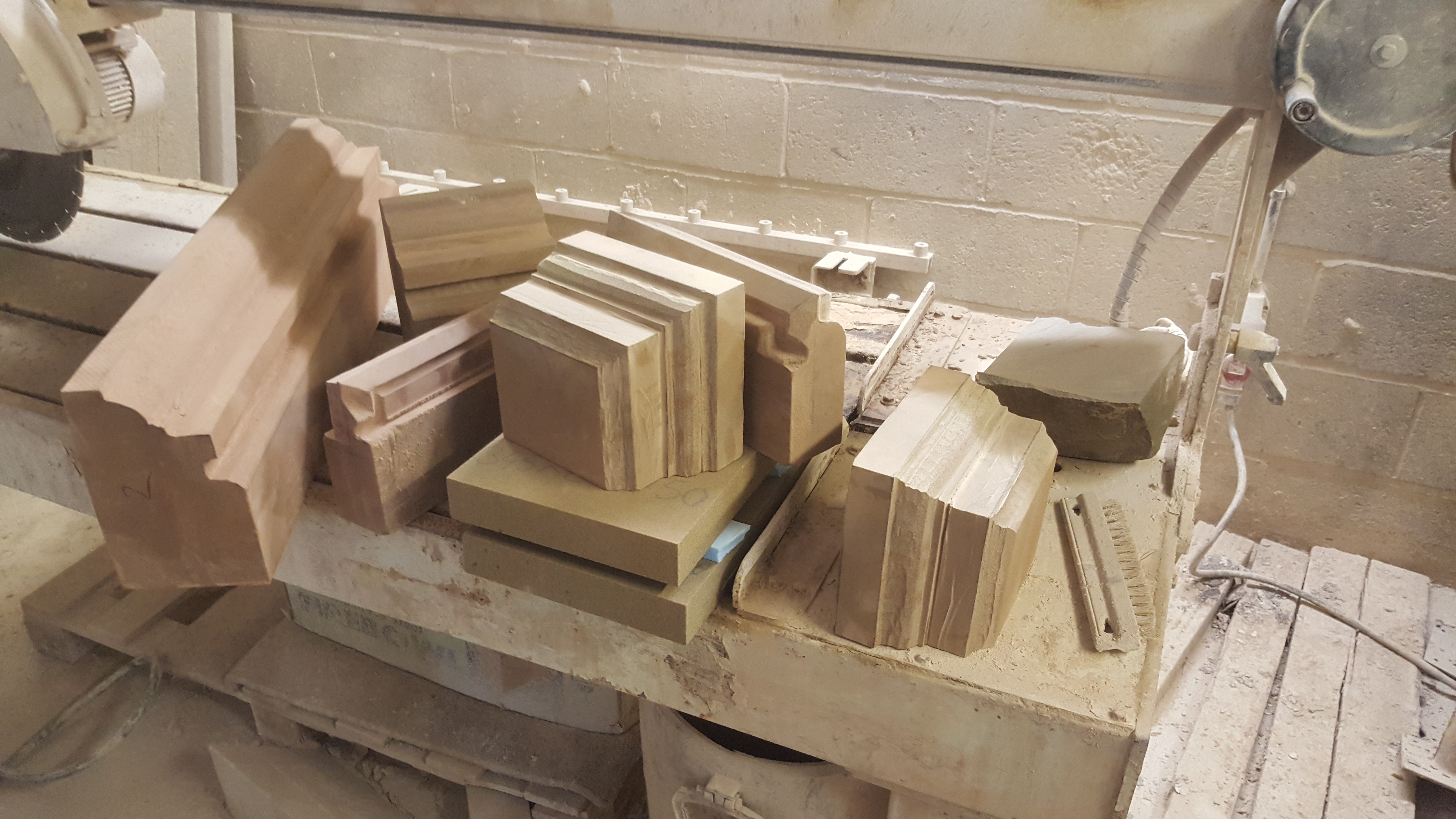 Hand crafted stone pieces