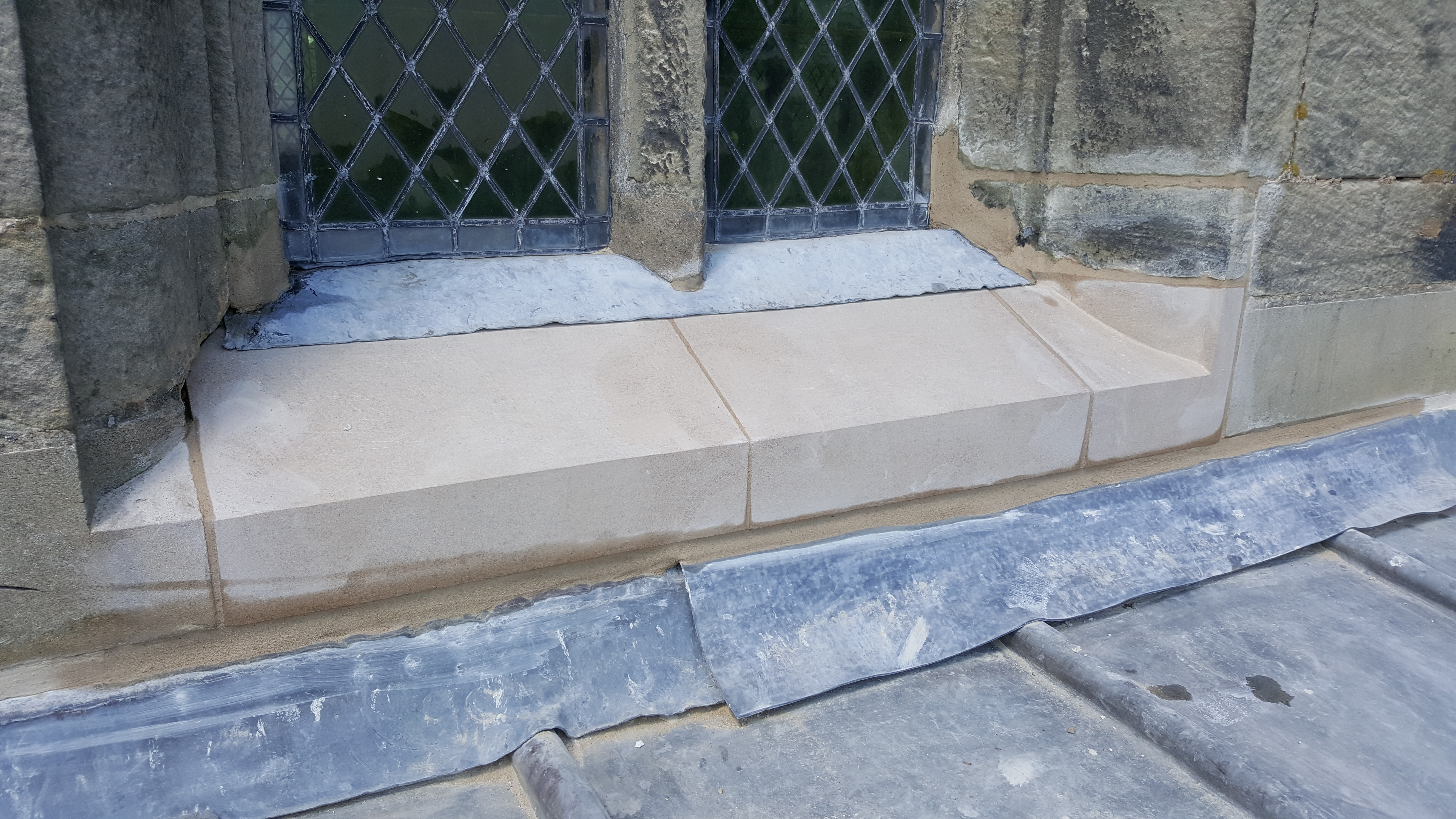 Church window cill stone replacements