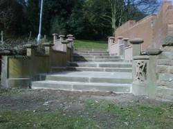 Stone steps restoration