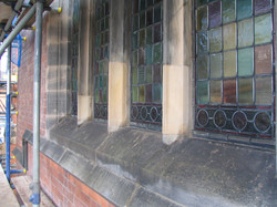 Church window stone column replacements