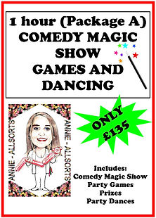 1 Hour Package A Magic Show and Party Games