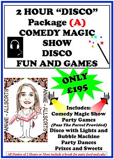 2 Hour Dico Package A Magic Show, Disco and Games