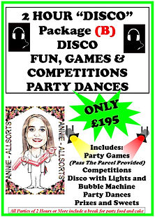 2 Hour Disco Package B Children's Disco, Gmaes and competitions