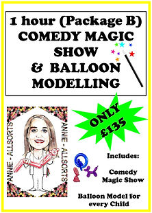 1 Hour Package B Magic Show and Balloon Modelling