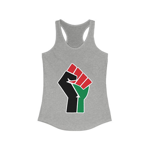 Black Fist Women's Ideal Racerback Tank