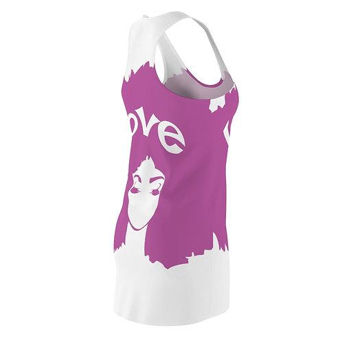 Afro Love Women's Cut & Sew Racerback Dress