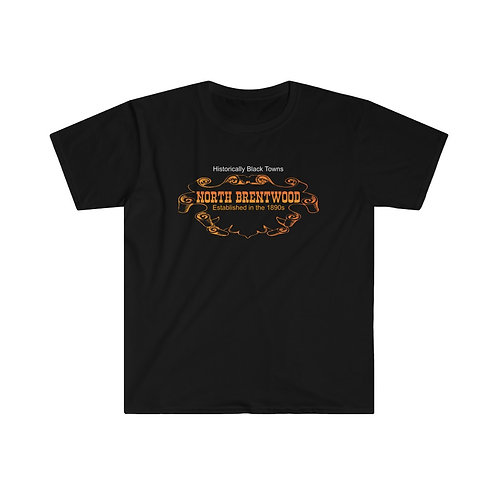 Historical Black Towns North Brentwood Men's Fitted Short Sleeve Tee