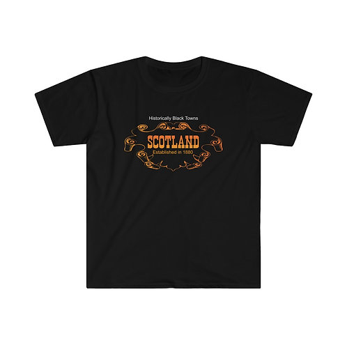 Historical Black Towns Scotland Men's Fitted Short Sleeve Tee