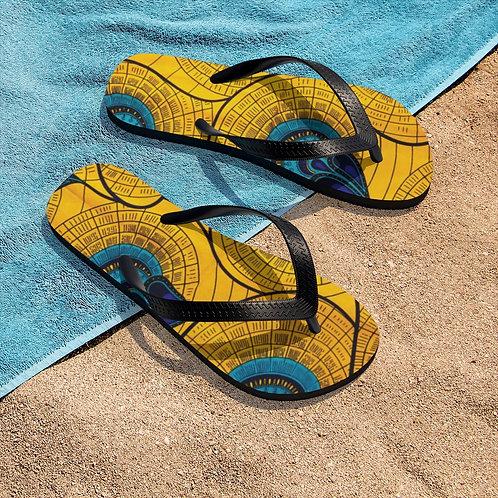 Akara print Unisex Flip-Flops