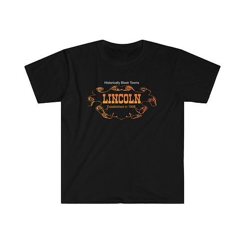 Historical Black Towns Lincoln Men's Fitted Short Sleeve Tee
