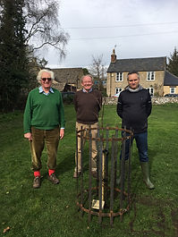 Cllr. Stowell, Cllr. Alderman and Cllr. Jones and the newly planted lime tree in Wash Meadow