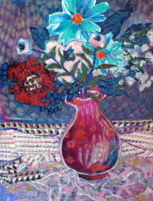 Red Vase III