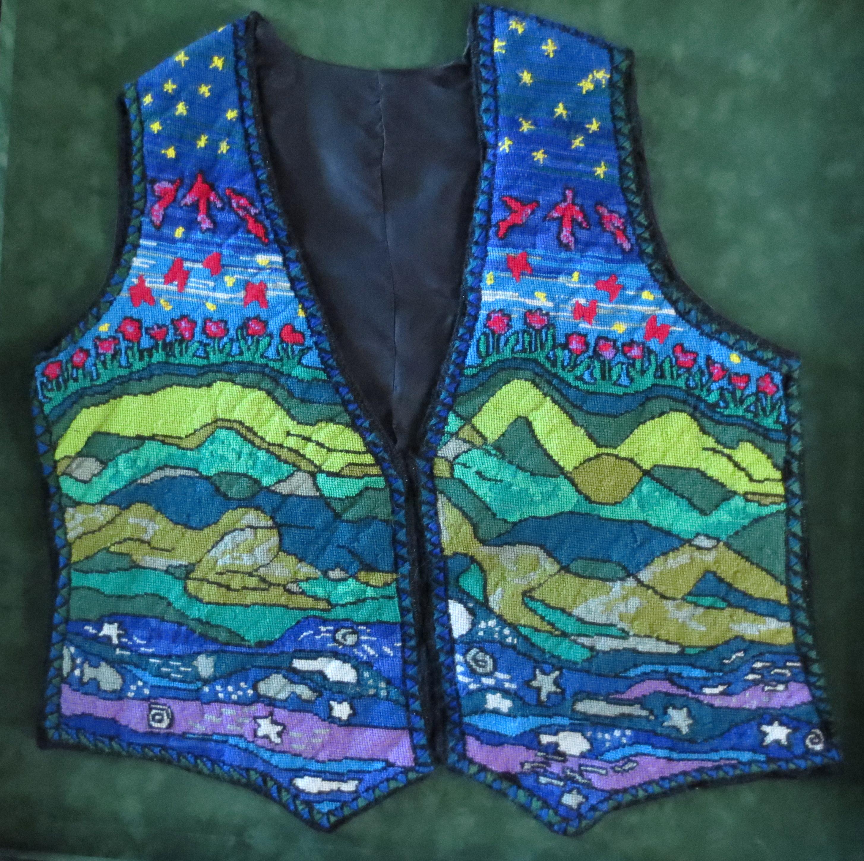 metamorphosis needlepoint vest