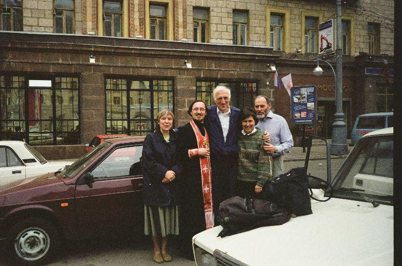 Жан с первым друзьями в России