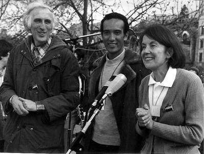 Жан Ванье и Мари-Элен Матье