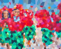 2014 V Flores del karibe danzando 48X50.