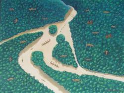 2006 La Mujer de Agua en su Hamaca de Esmeraldas acrylic 97X128 cms.jpg