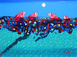 2015 V peces mirando luna